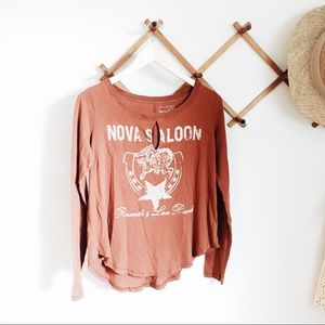 Free People Nova Saloon Distressed Top size M